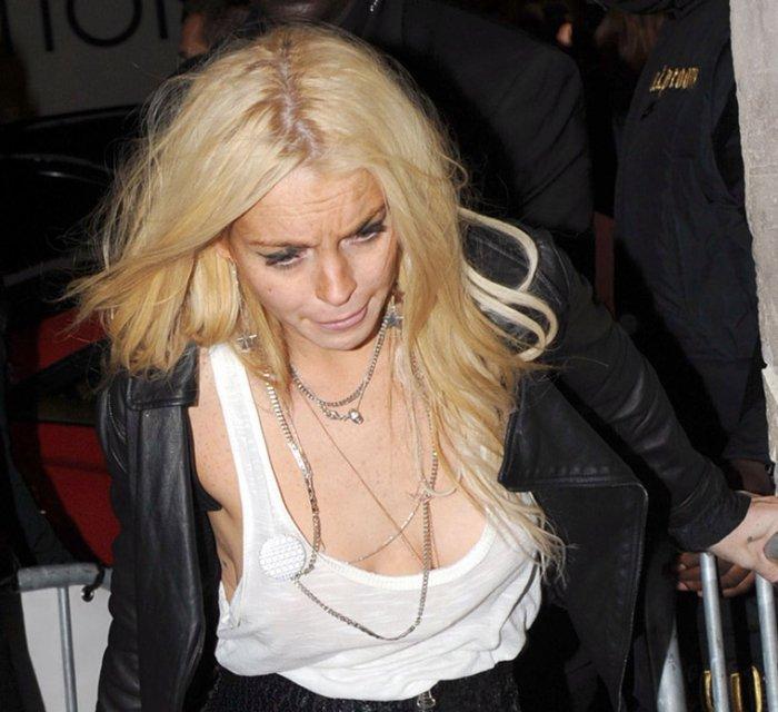 Кошмарный вид Lindsay Lohan