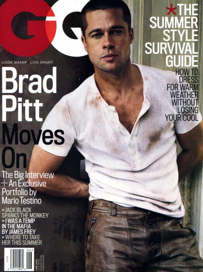 Brad Pitt in GQ
