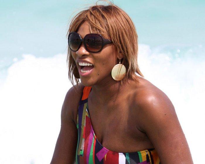 Serena Williams на пляже