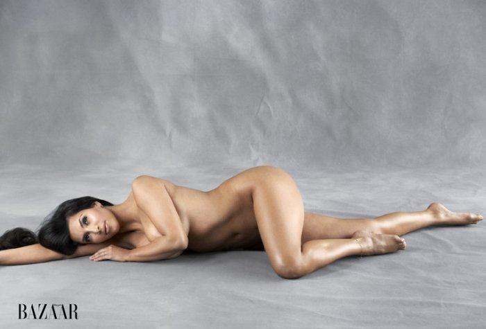 Kim Kardashian разделась догола